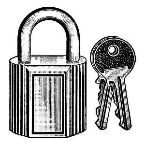 847376 © Free On French Padlock and Keys