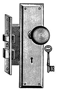 847378 © Free On French Doorknob and Lock