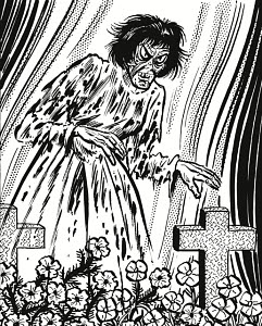 781922 © Free On French Zombie Woman in Graveyard