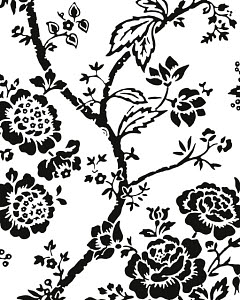 763736A © Free On French Asian Flower Pattern