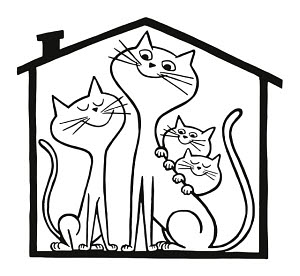 835372 © Free On French Happy Cat Family