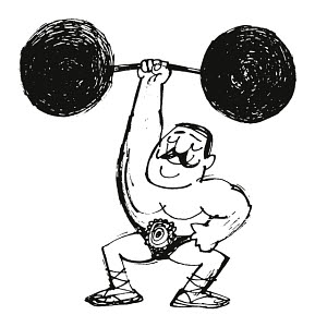729991 © Free On French Strongman Lifting Weights