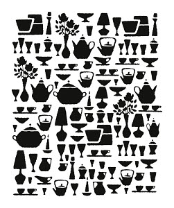 753862B © Free On French Silhouettes of Dishes