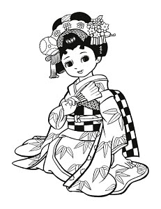 783286 © Free On French Japanese Girl Dressed as Geisha