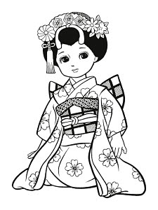 783287 © Free On French Japanese Girl Dressed as Geisha