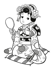 783290 © Free On French Japanese Girl Dressed as Geisha