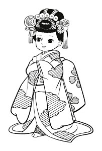 783292 © Free On French Japanese Girl Dressed as Geisha