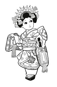783295 © Free On French Japanese Girl Dressed as Geisha