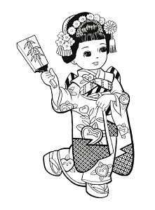 783296 © Free On French Japanese Girl Dressed as Geisha