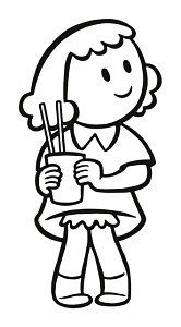 833257 © Free On French Girl Holding a Glass with Straws