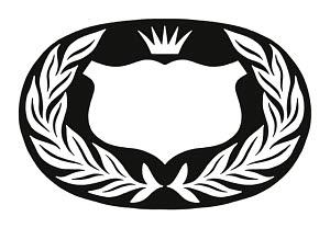 846299 © Free On French Shield Crown and Laurel Wreath