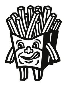 848506 © Free On French French Fries Character