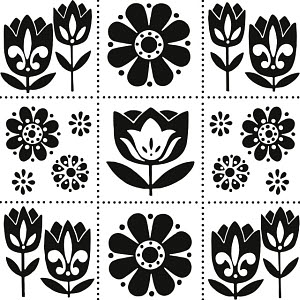 764467B © Free On French Various Flower Pattern