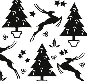 779944 © Free On French Deer and Christmas Tree Pattern