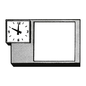 D789061 © Free On French Desk Object with Clock and Blank Square