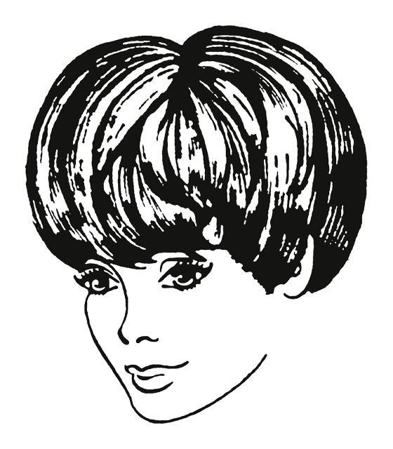 Hairstyles Illustrations Unique Modern And Vintage Style Stock